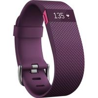 Fitbit Charge HR Heart Rate Activity Wristband Large Plum