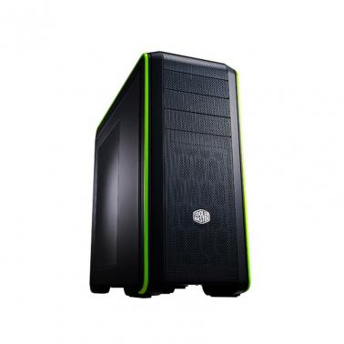 CoolerMaster CMS-693-KWN1 Black/Green w Window Gaming Case USB3.0