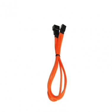BitFenix Sleeved Fan Extension Cable,30cm,3-Pin Orange/BLACK
