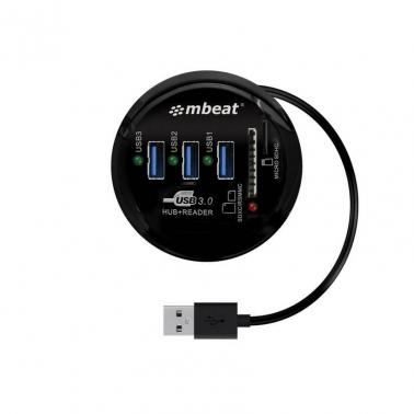 mBeat Portable USB3.0 HUB and Card Reader