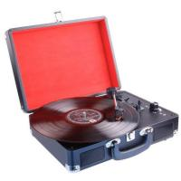 Laser Suitcase Style 3-speed Stereo Turntable with Built-in speaker with Bluetooth