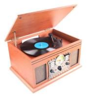 Laser Turntable Wooden Entertainment Centre with CD , Cassette, FM/AM, USB/SD , USB & Bluetooth