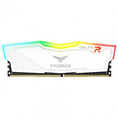 Team 16G(2x8G)Kit T-Force Delta RGB Series Dual Channel DDR4 2666 MHz White