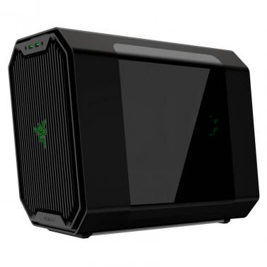 Antec Cube (Certified by RAZER) Mini ITX Aluminium Case Green LED Water Cooling Ready USB3.0 x 2