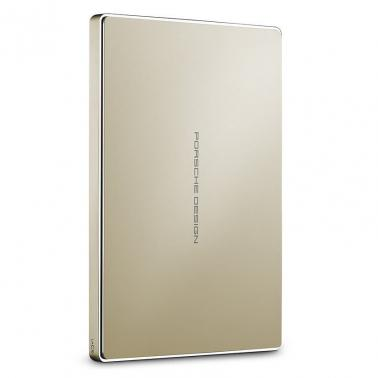 Lacie 2TB Porsche Design USB-C Mobile Hard Drive Gold