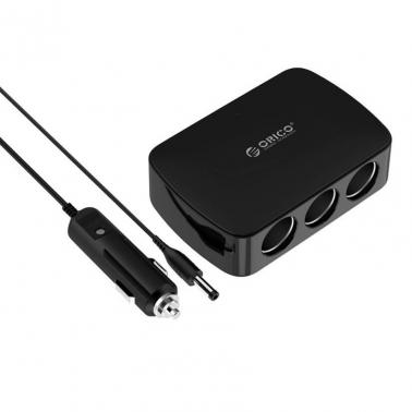 4 Port USB HUB in Car with 3 Cigarette Lighter Ports Orico