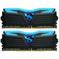 GeIL 16GB Kit (2x8GB)GLB416GB3000C15ADC DDR4 Super LUCE C15 3000MHz Black Heatsink Blue Led