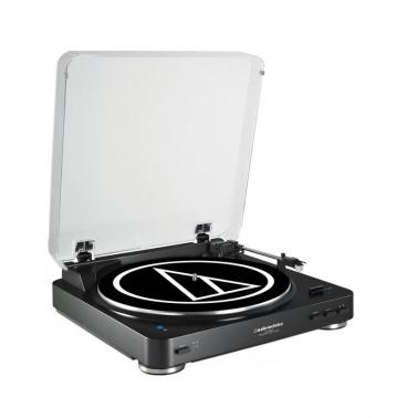 Audio-Technica AT-LP60BK BT Fully Automatic Wireless Belt-Drive Stereo Turntable