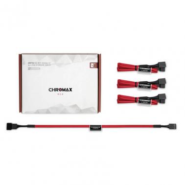 Noctua NA-SEC1 Chromax.Red 30cm 4Pin PWM Power Extension Cables (3 Pack)