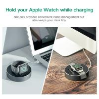 UGreen Black Portable Charging Stand with Thread Winder for All Apple Watch 38mm and 42mm
