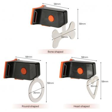 Bicycle LED Safety Warning Light Cycling Bike Taillight Tail Rear Light Lamp Heart/Round/Bone Shaped