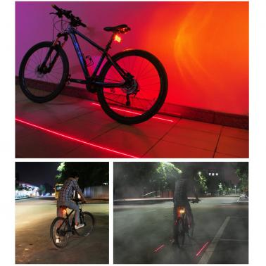 Bicycle Turn Signals Rechargeable Bike Cycling Taillight Rear Light Backlight Flashlight with Direction Indicators & 2 R