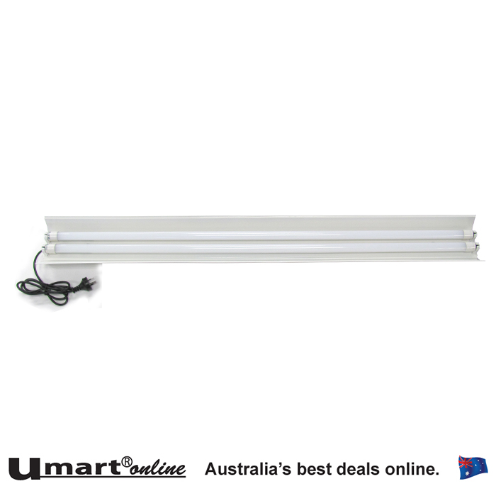 LED Twin T8 1200mm LED Battens With reflector & 2X LED15W 4000K Tubes