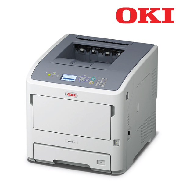 OKI B721DN -Mono a4 47ppm Network PCL Duplex 530+100 sheet +options printer, 1 yr to 3 years after r