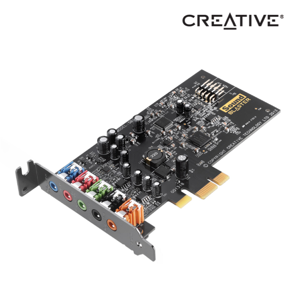 Creative Sound Blaster audigy FX 5.1 PCIe Sound Card with SBX Pro Studio, with low profile bracket,