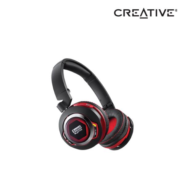 "Creative Sound Blaster EVO ZX SB-axx1â""¢-powered Wireless Bluetooth headset with NFC, 40mm audi"