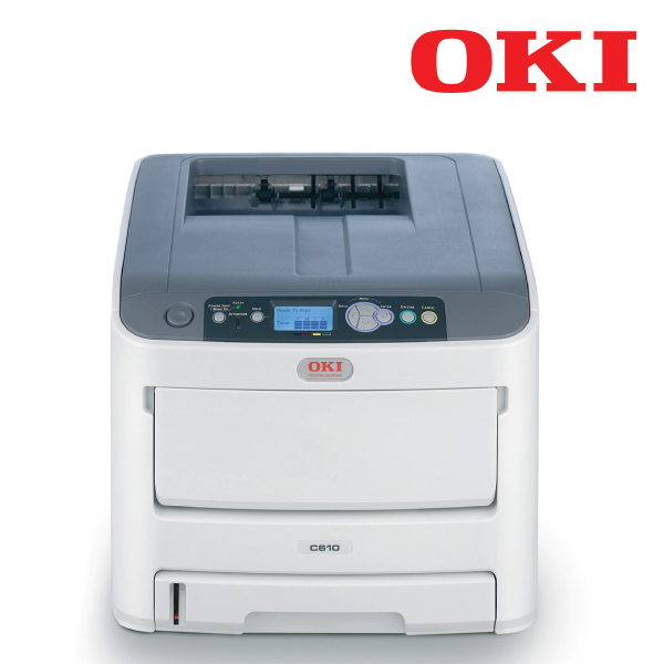 OKI C610N - Colour a4 34 - 36ppm Network PCL 400 sheet +opt LED printer, 1 yr 3 years onsite after r