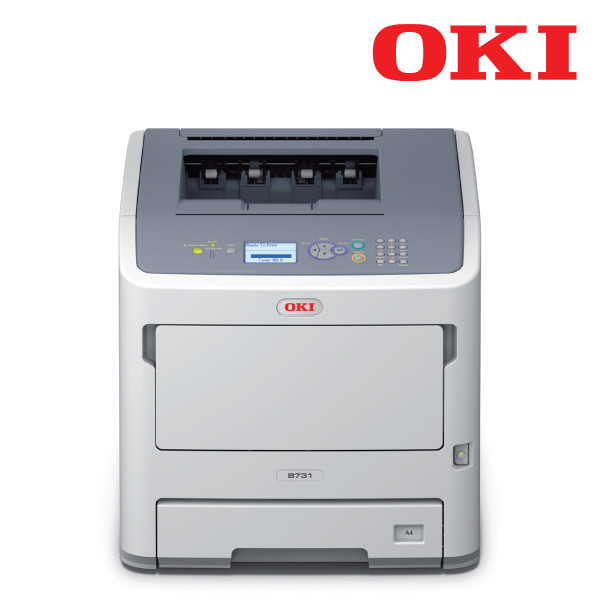 OKI B731DN -Mono a4 52ppm Network PCL Duplex 530+100 sheet +options printer, 1 year to 3 years after