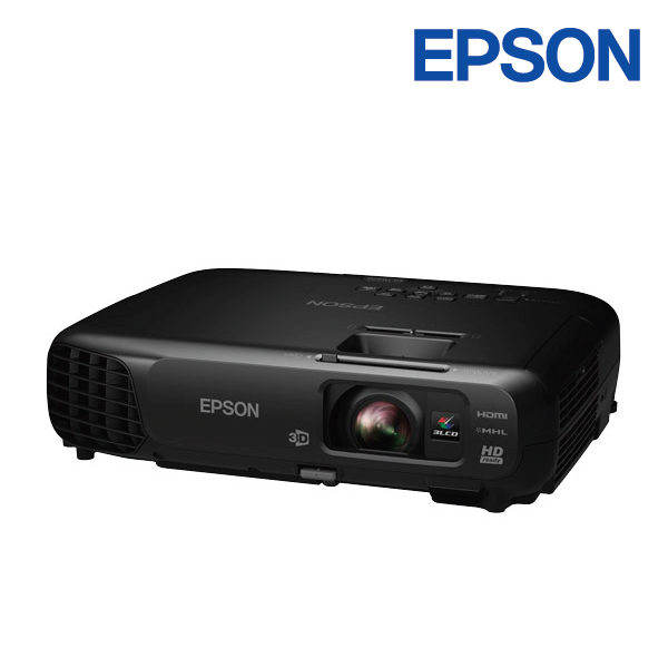 Epson EH-TW570 3000 Lumens 720p Home Theatre Projector 15,000:1 Contrast, MHL