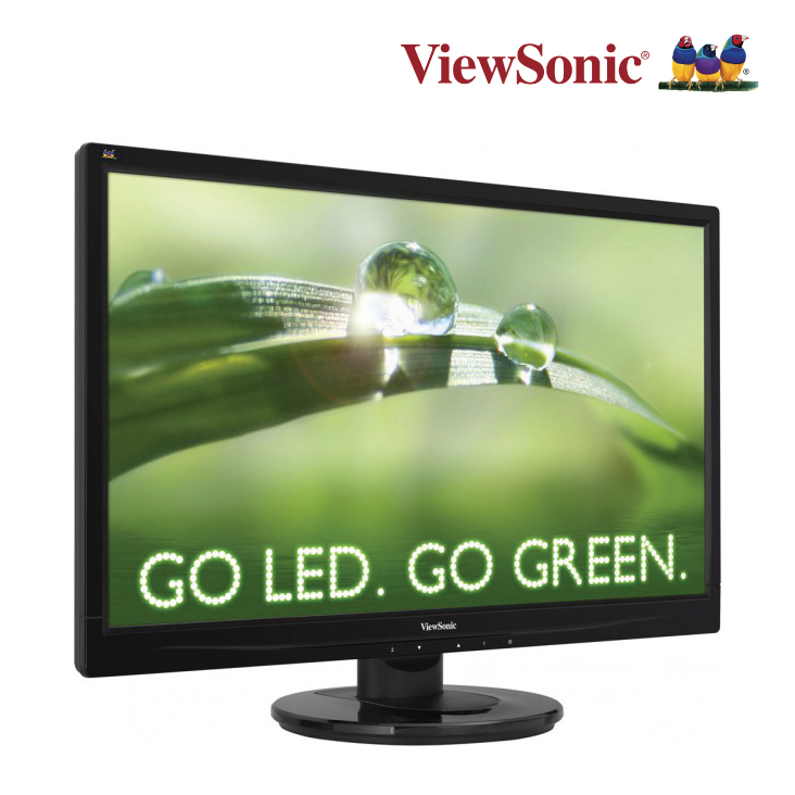 Viewsonic Va2445M 23.6in LED VGa/DVI (16:9) 1920x1080 Speakers Tilt Stand VESa