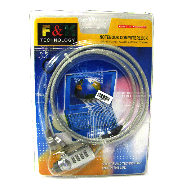 NoteBook Computer Security Number Lock Cable