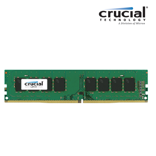 Crucial 4GB DDR4 2133MHz 512x8 CL15 Dual Ranked Desktop Memory