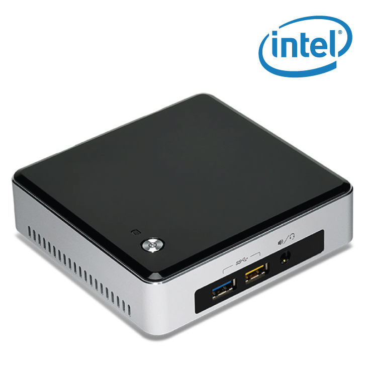 new intel nuc boxnuc5i5ryk barebone kit 5th gen core i5 ebay. Black Bedroom Furniture Sets. Home Design Ideas