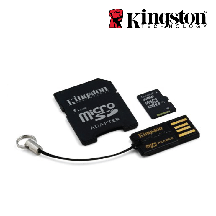 Kingston 16GB Multi Mobility kit class 10 microSD/SDAdapte/USB Reader